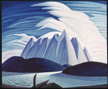 (Fig 3.) Lawren S. Harris, Lake and Mountains, 1928, Art Gallery of Ontario, Toronto, AGO, Web, 3 May 2015.