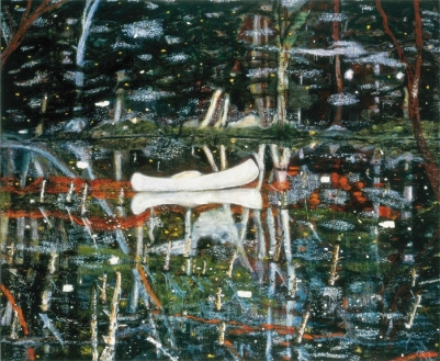 (Fig 6.) Peter Doig. White Canoe, 1990-1991, Saatchi Gallery, London, Saatchi Gallery, Web, 10 October 2015.